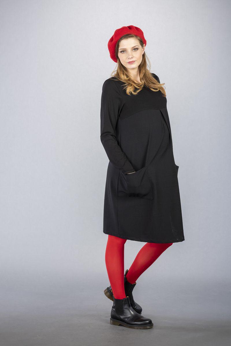 Těhotenské šaty BEBEFIELD - Catalina Black