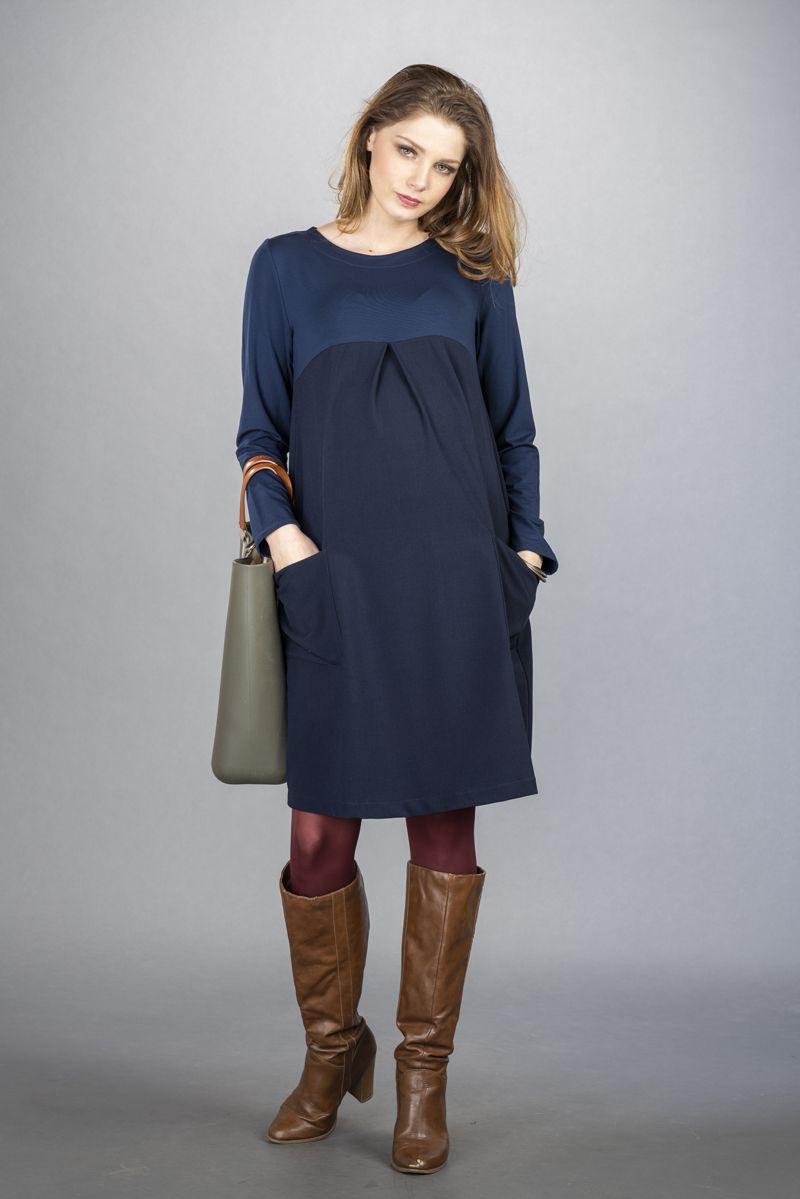 Těhotenské šaty BEBEFIELD - Catalina Navy