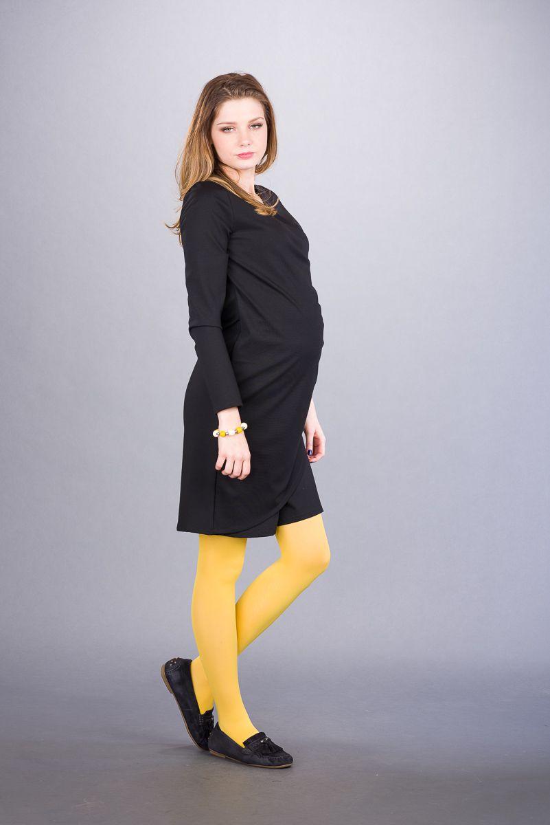 Těhotenské šaty BEBEFIELD - Delphine Black