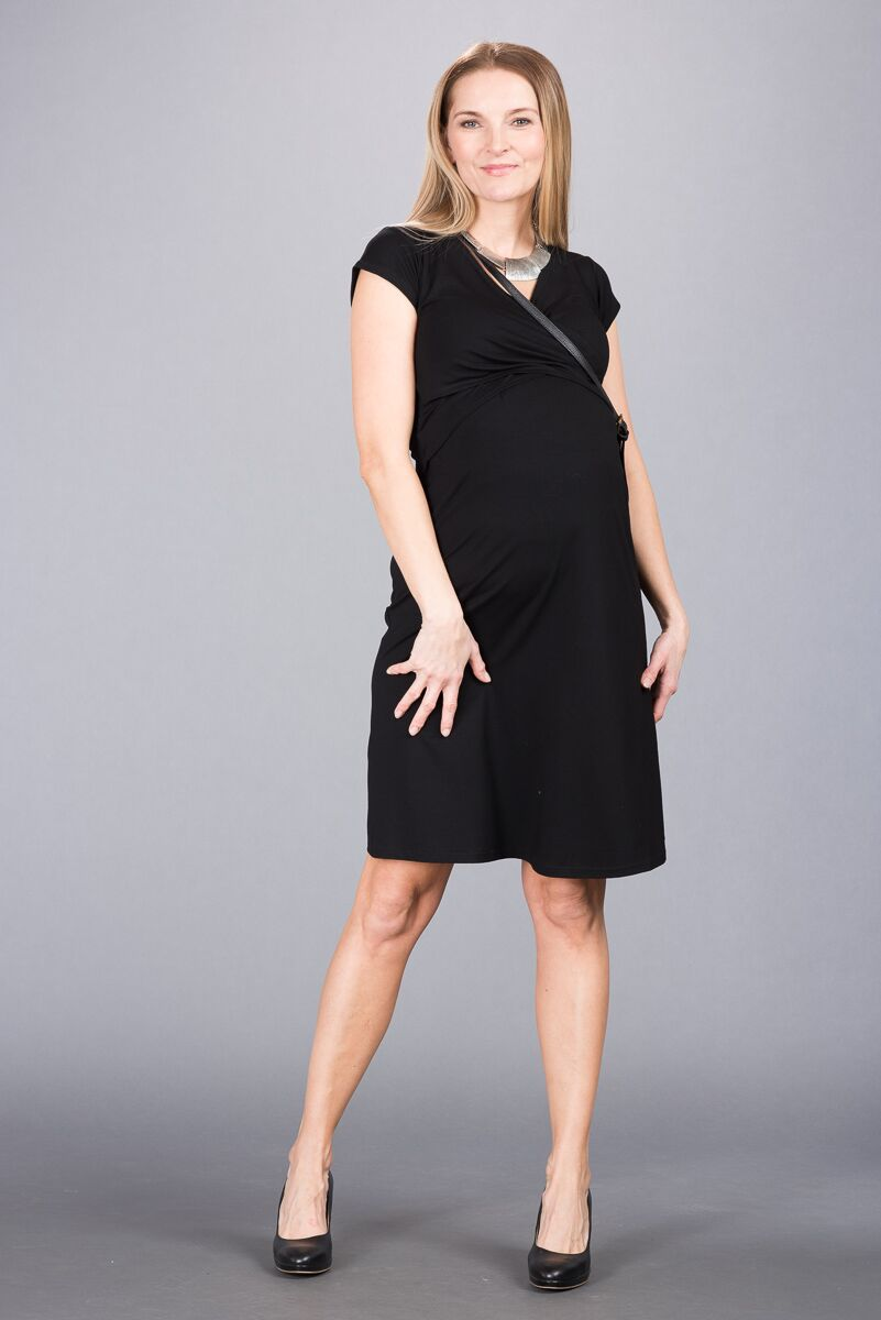 Těhotenské šaty BEBEFIELD - Florentina Black