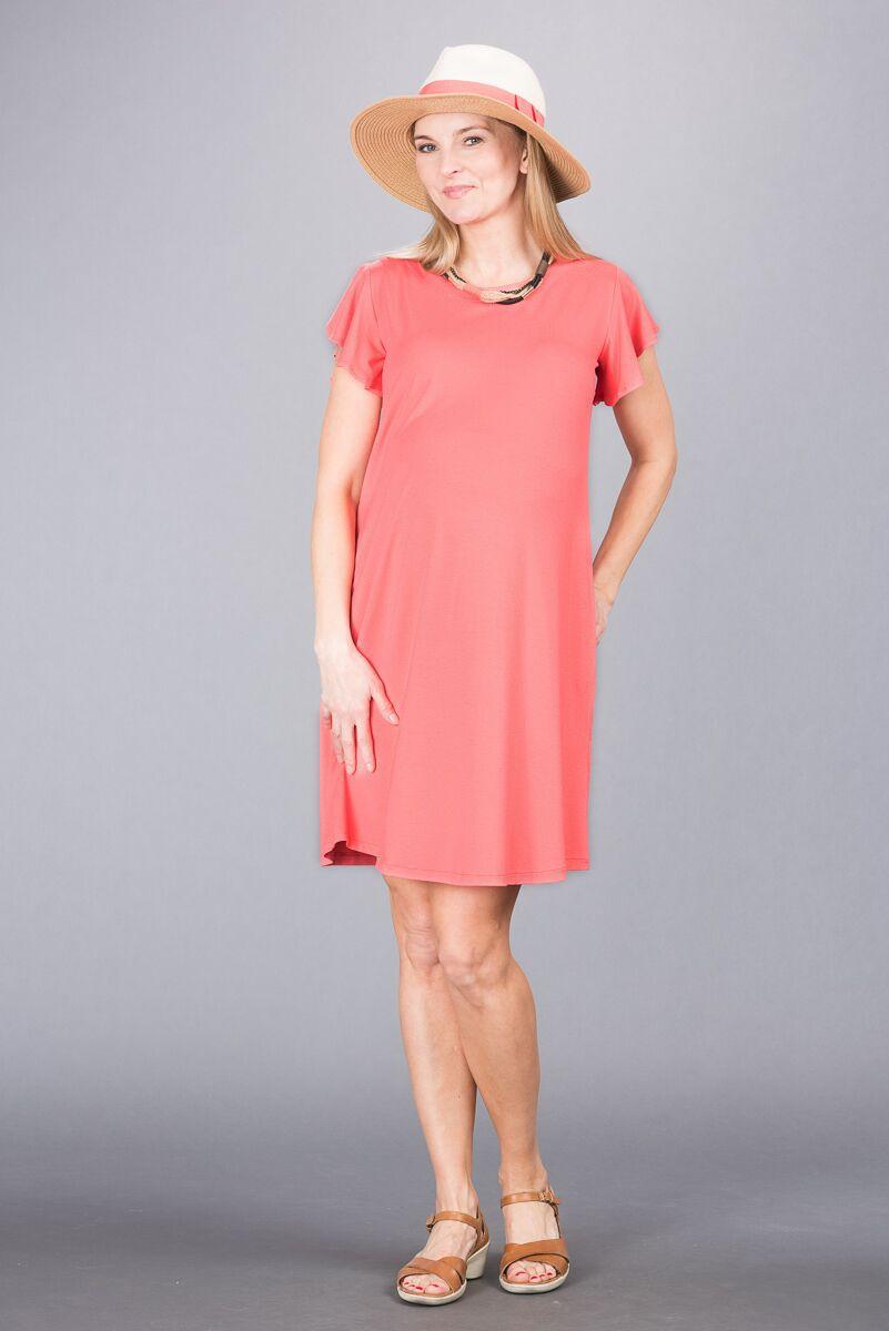 Těhotenské šaty BEBEFIELD - Frida Coral