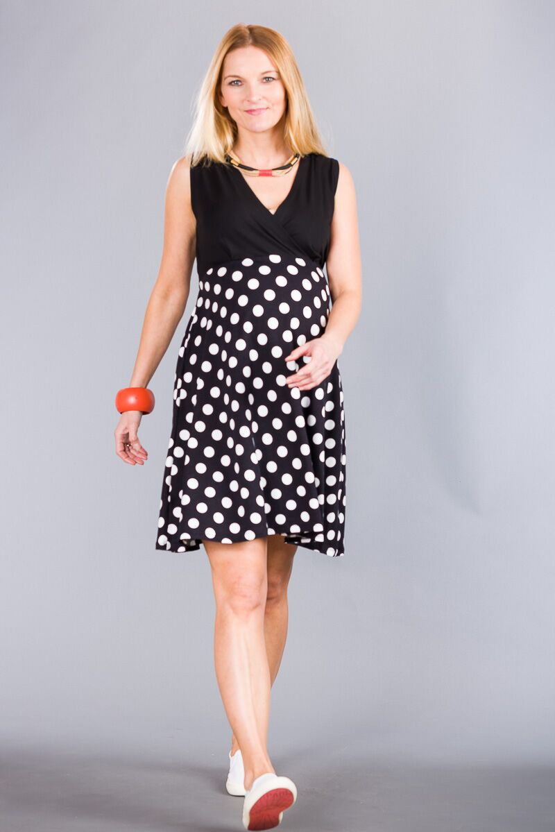 Těhotenské šaty BEBEFIELD - Marcelina Dots
