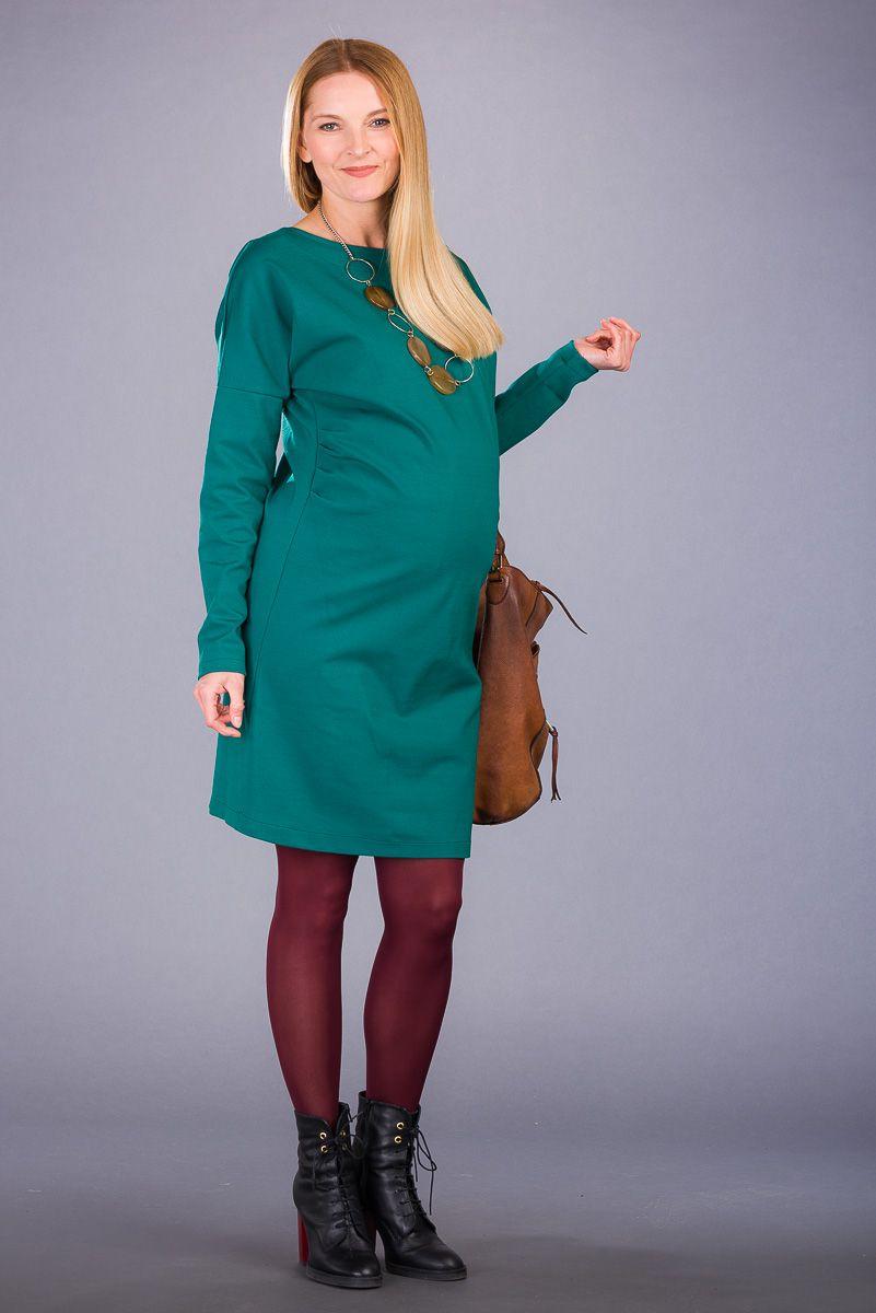 Těhotenské šaty BEBEFIELD - Nella Green