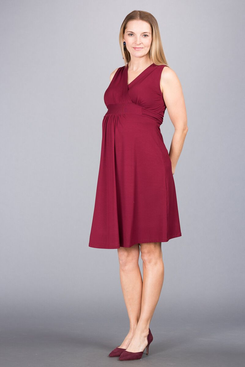Těhotenské šaty BEBEFIELD - Rachel Claret