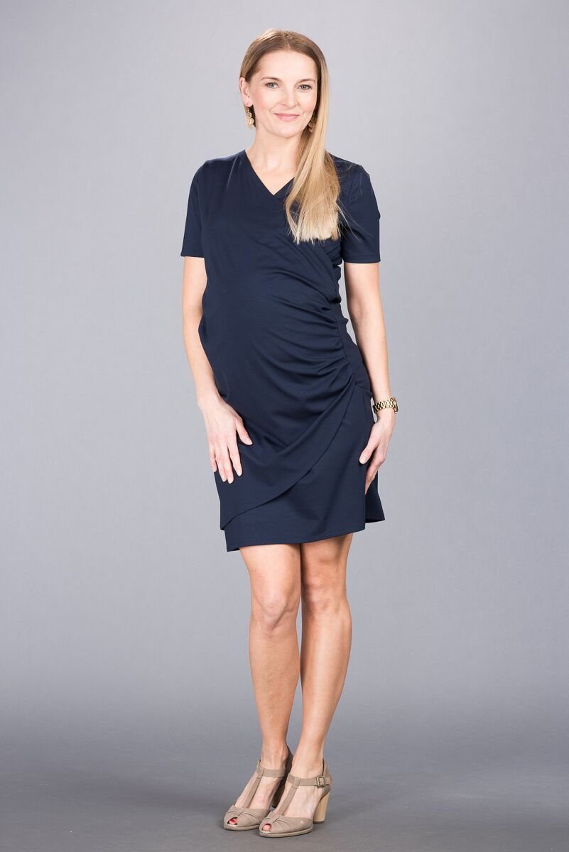 Těhotenské šaty BEBEFIELD - Sandrine Navy