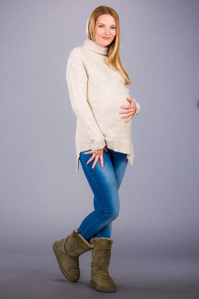 Těhotenský svetr BEBEFIELD - Adalie