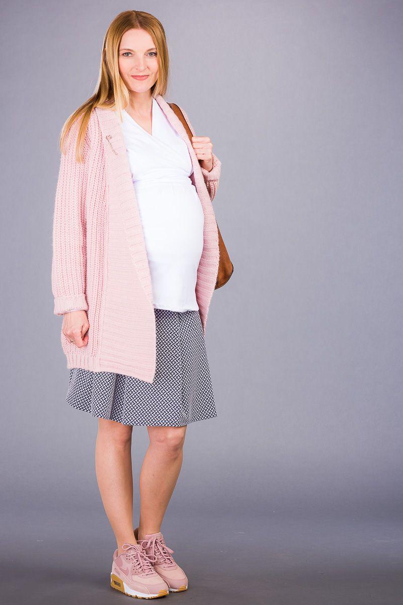 Těhotenský svetr BEBEFIELD - Harriet Pale Rose