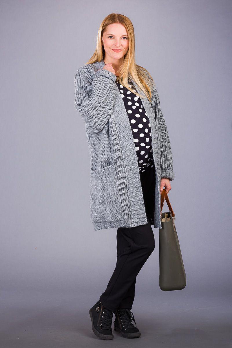 Těhotenský svetr BEBEFIELD - Tiffany Grey