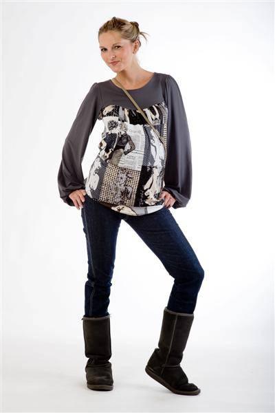 Těhotenské kalhoty BEBEFIELD - Milano Jeans