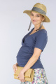 Těhotenská halenka BEBEFIELD - Amal Indigo