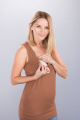 Těhotenská halenka BEBEFIELD - Bonnie Cinnamon