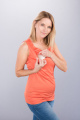 Těhotenská halenka BEBEFIELD - Bonnie Orange