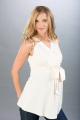 Těhotenská halenka BEBEFIELD - Debra Ecru - Velikost 44