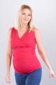 Těhotenská halenka BEBEFIELD - Lucy Raspberry