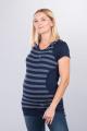 Těhotenská halenka BEBEFIELD - Megan Navy Jeans