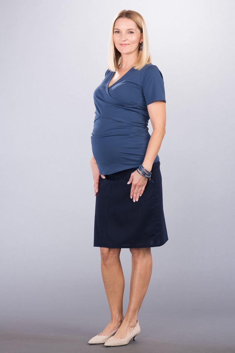 Těhotenská sukně BEBEFIELD - Melissa Navy