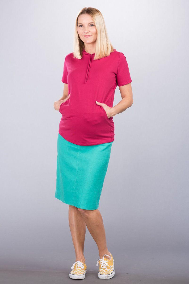 Těhotenská sukně BEBEFIELD - Melissa Blue Lagoon