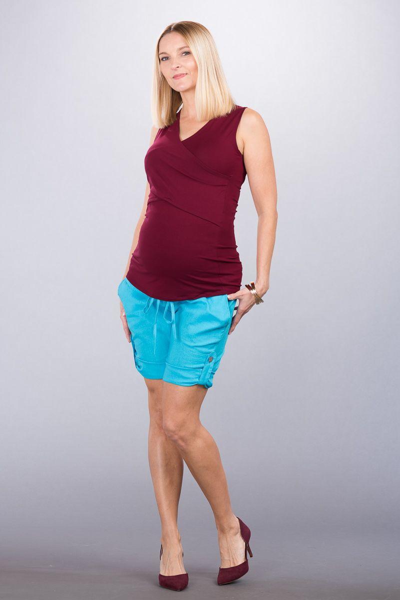 Těhotenské kalhoty BEBEFIELD - Alicante blue