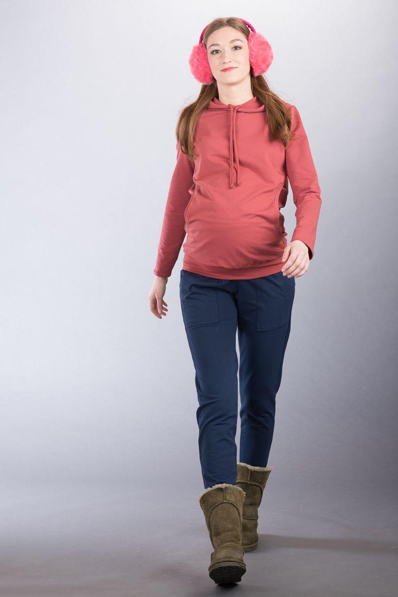 Těhotenské kalhoty BEBEFIELD - Fabio Navy