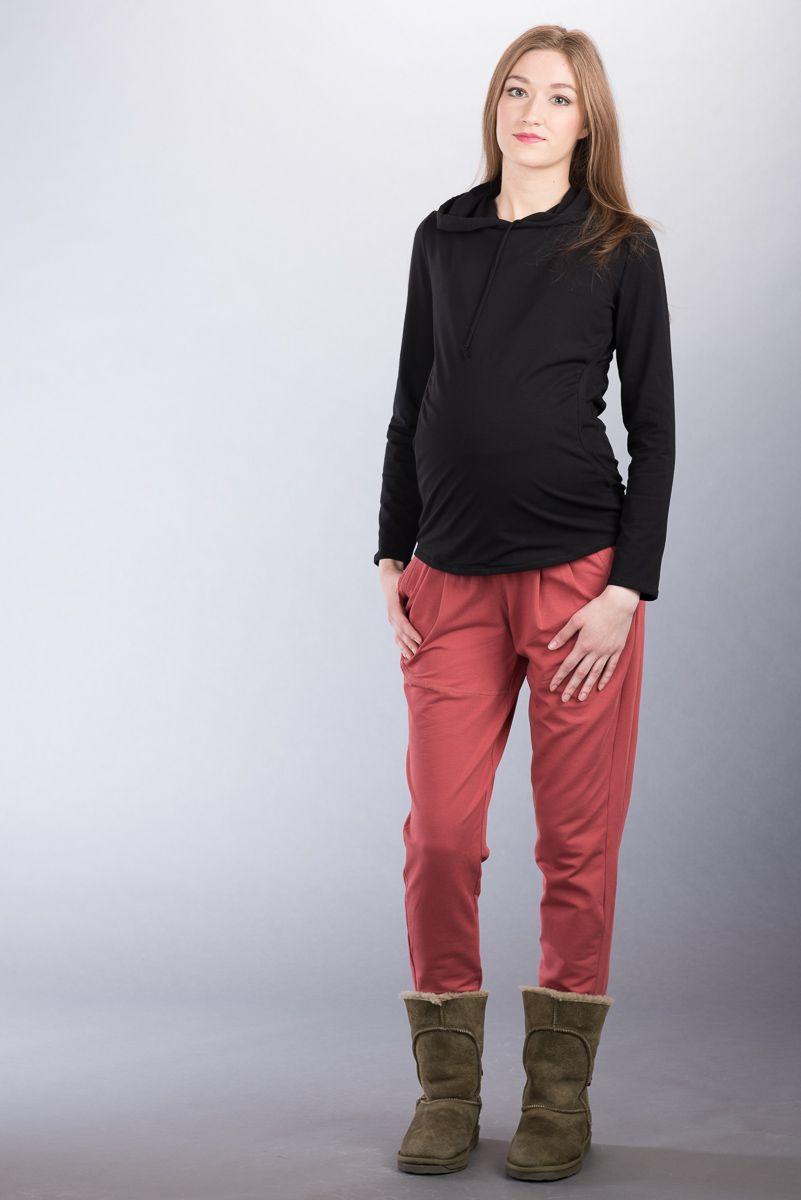 Těhotenské kalhoty BEBEFIELD - Gillian Marsala
