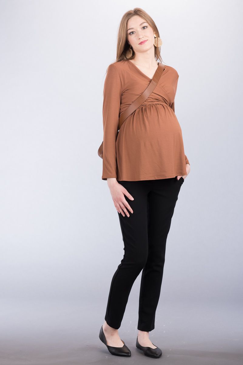 Těhotenské kalhoty BEBEFIELD - Harper Black