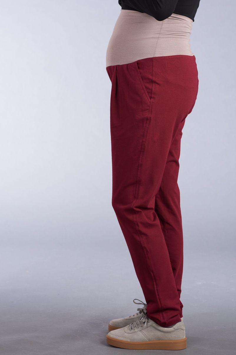 Těhotenské kalhoty BEBEFIELD - Iman Claret