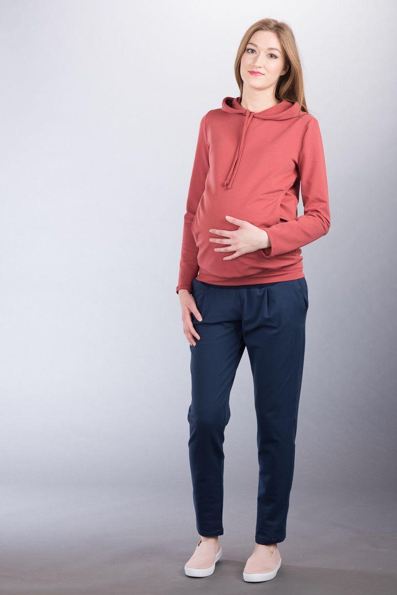 Těhotenské kalhoty BEBEFIELD - Iman Navy - Velikost 42