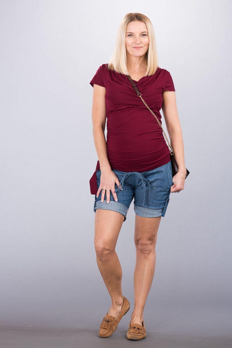 Těhotenské kalhoty BEBEFIELD - Malaga Jeans