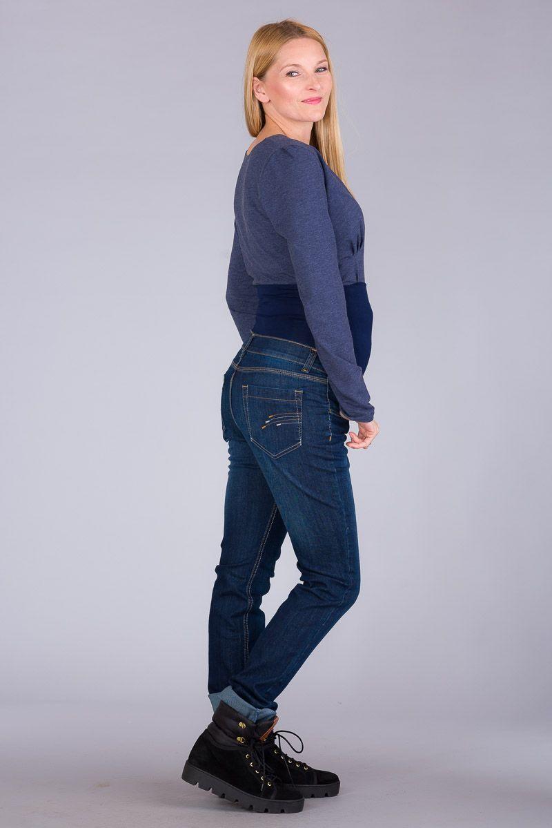 Těhotenské kalhoty BEBEFIELD - Orlando Jeans