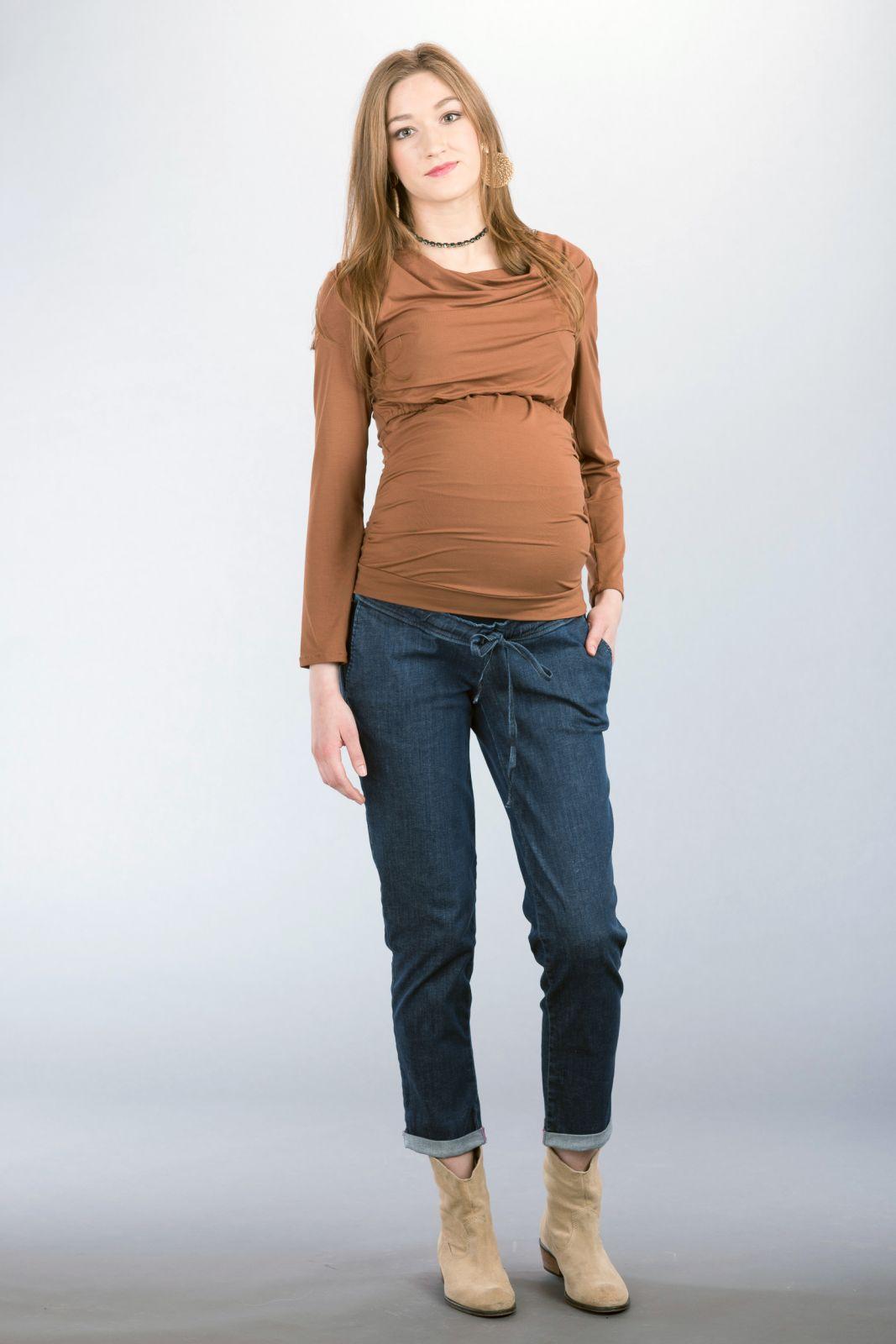 Těhotenské kalhoty BEBEFIELD - Oxford Jeans