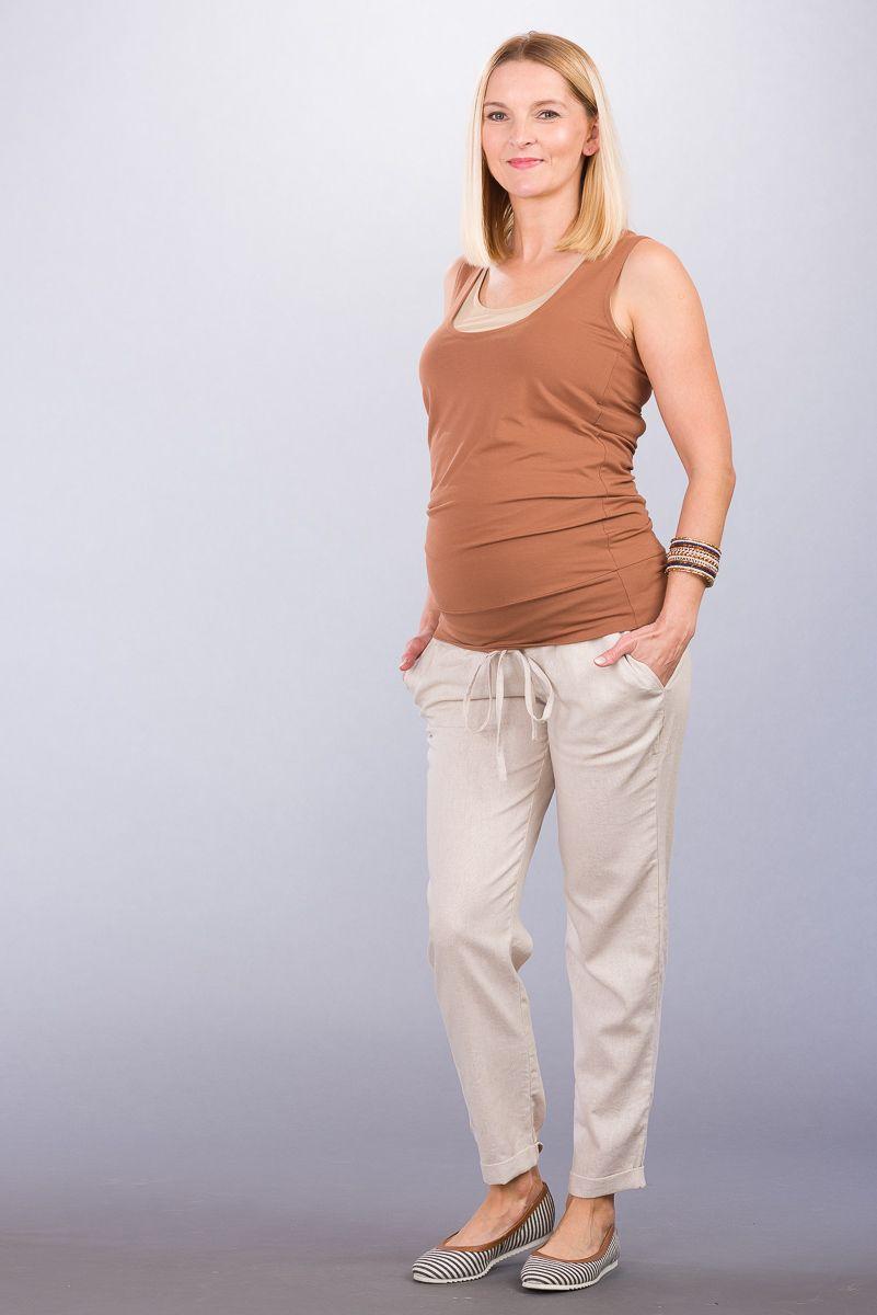 Těhotenské kalhoty BEBEFIELD - Toledo Beige