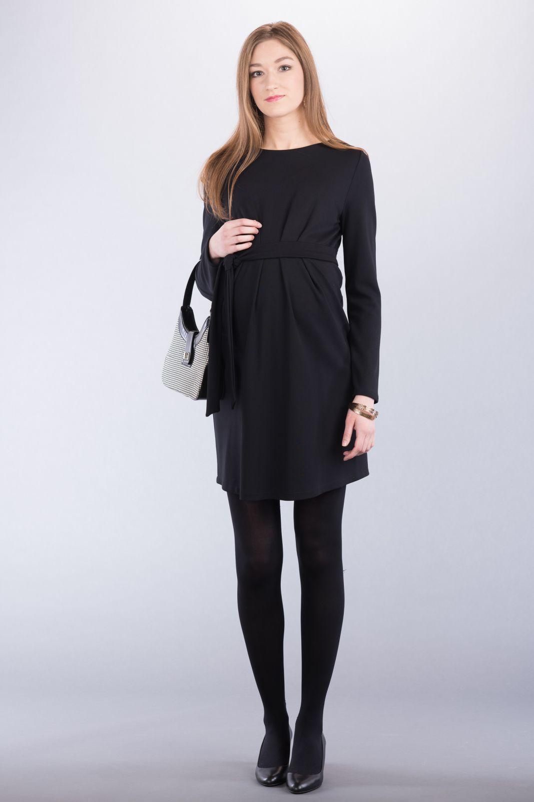 Těhotenské šaty BEBEFIELD - Adeline Black
