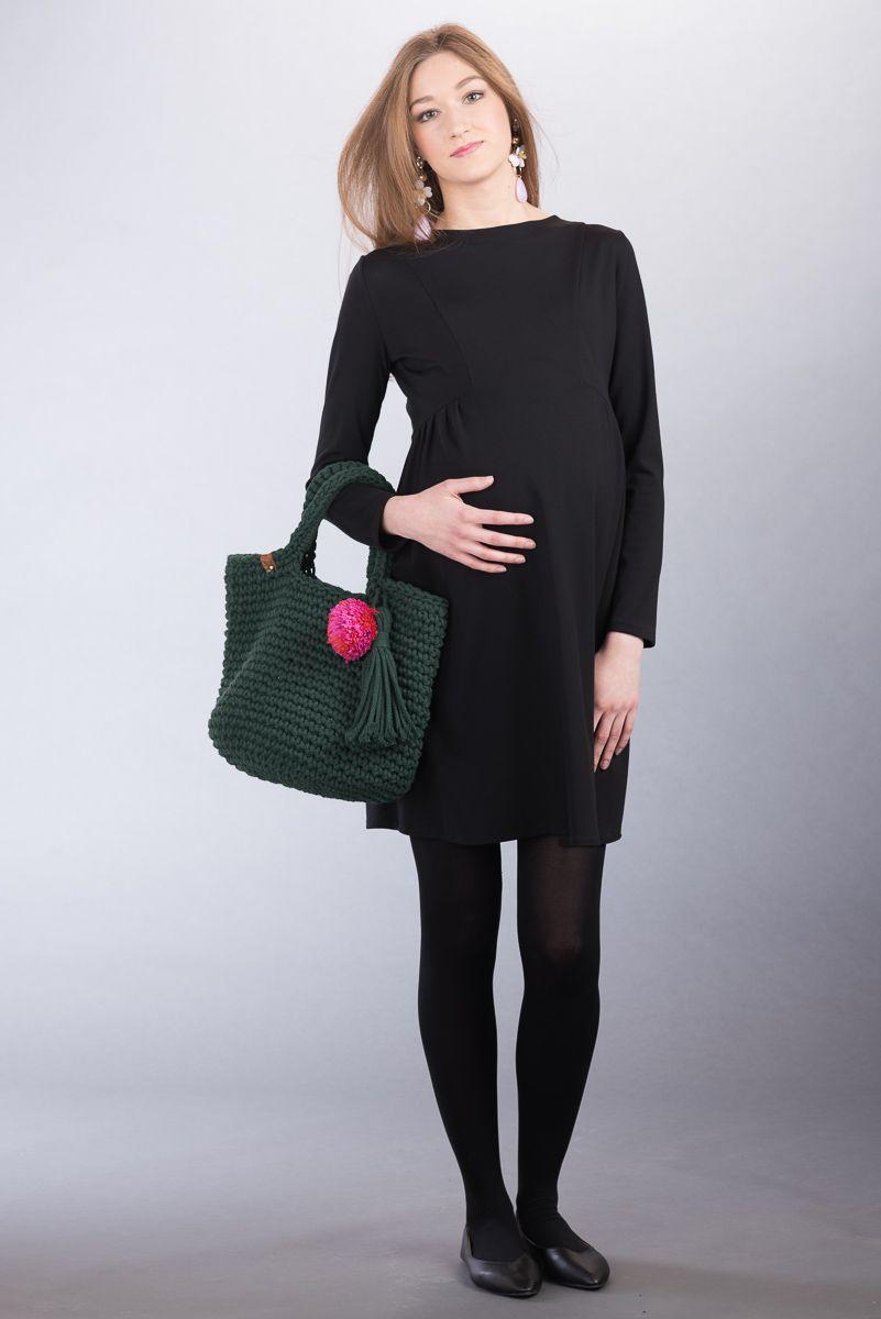Těhotenské šaty BEBEFIELD - Ava Black