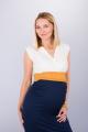 Těhotenské šaty BEBEFIELD - Giulia Ecru