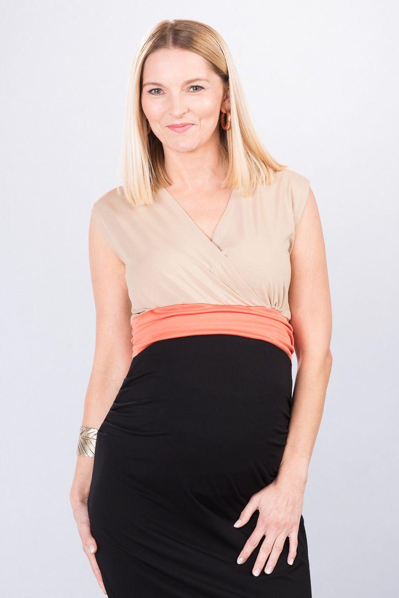 Těhotenské šaty BEBEFIELD - Giulia Latte