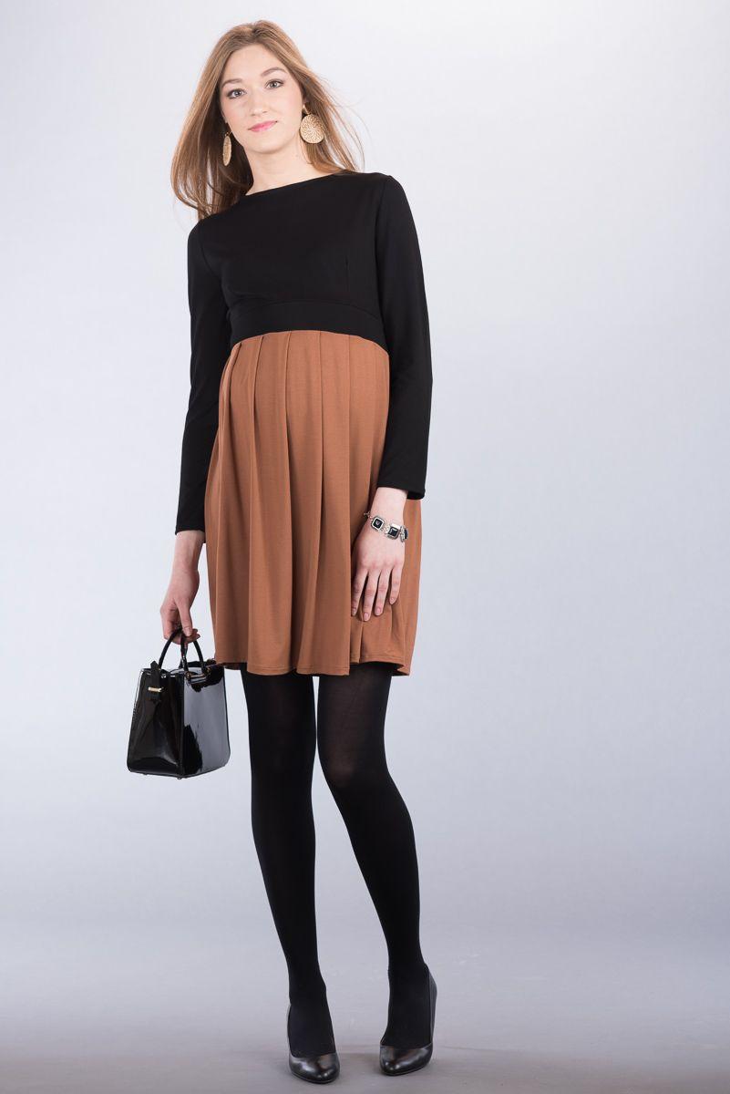 Těhotenské šaty BEBEFIELD - Greta Black