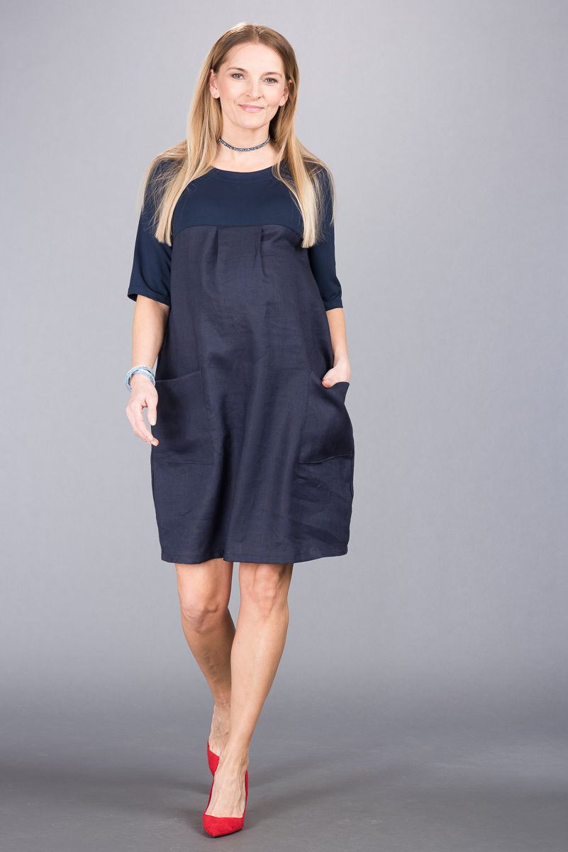 Těhotenské šaty BEBEFIELD - Julietta Navy