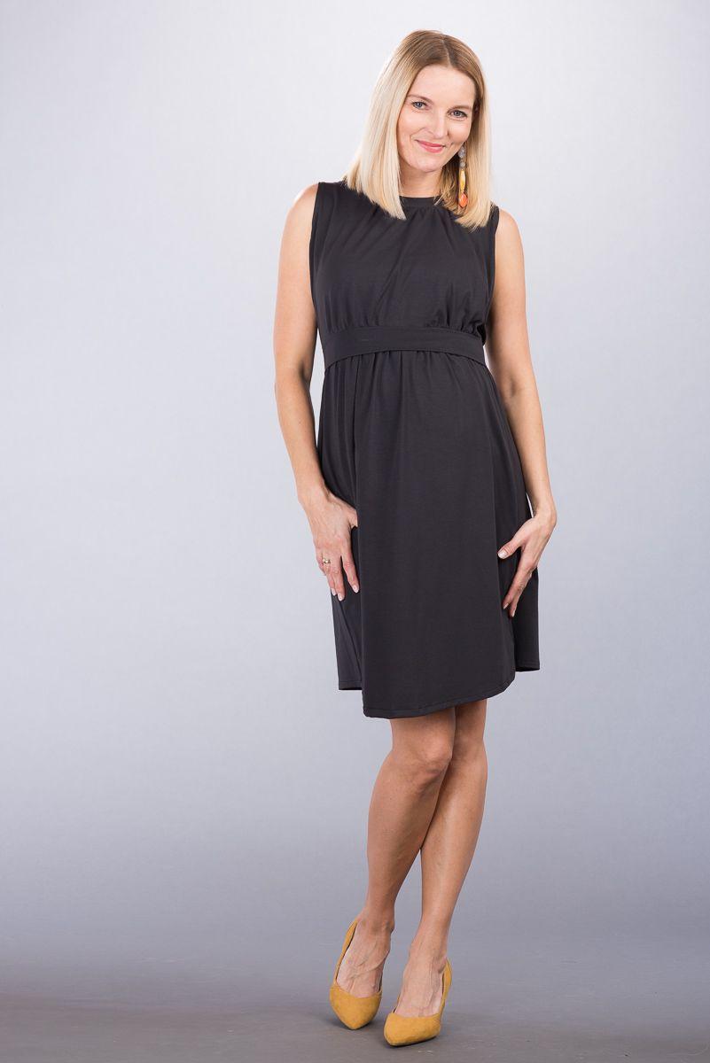 Těhotenské šaty BEBEFIELD - Louise Dark Grey