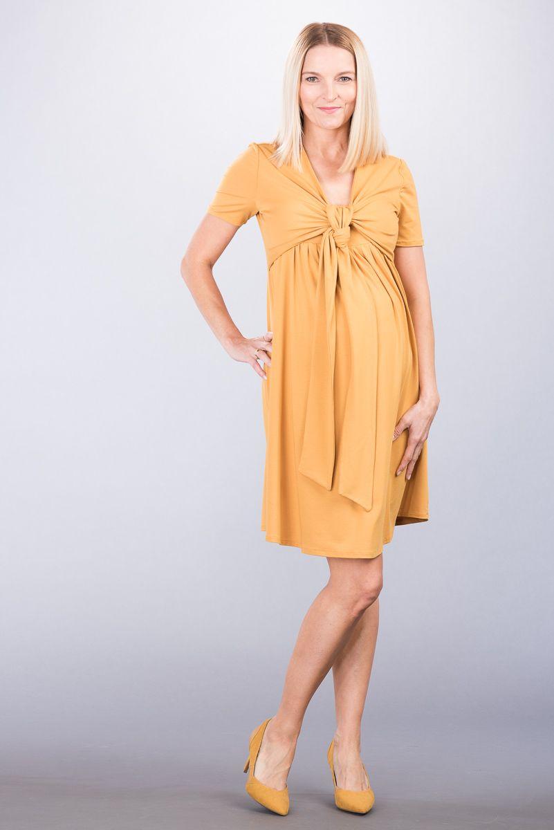 Těhotenské šaty BEBEFIELD - Pina Ochre