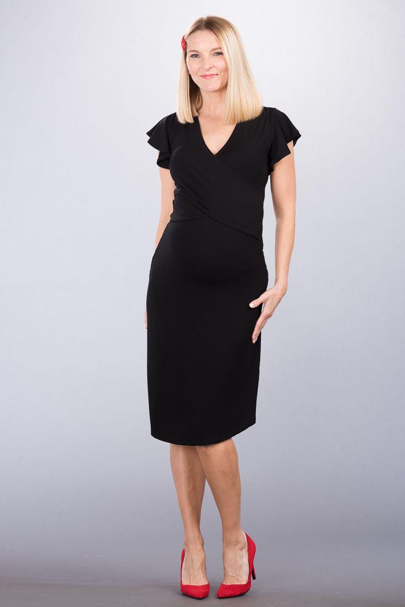Těhotenské šaty BEBEFIELD - Rosa Black