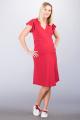 Těhotenské šaty BEBEFIELD - Rosa Red
