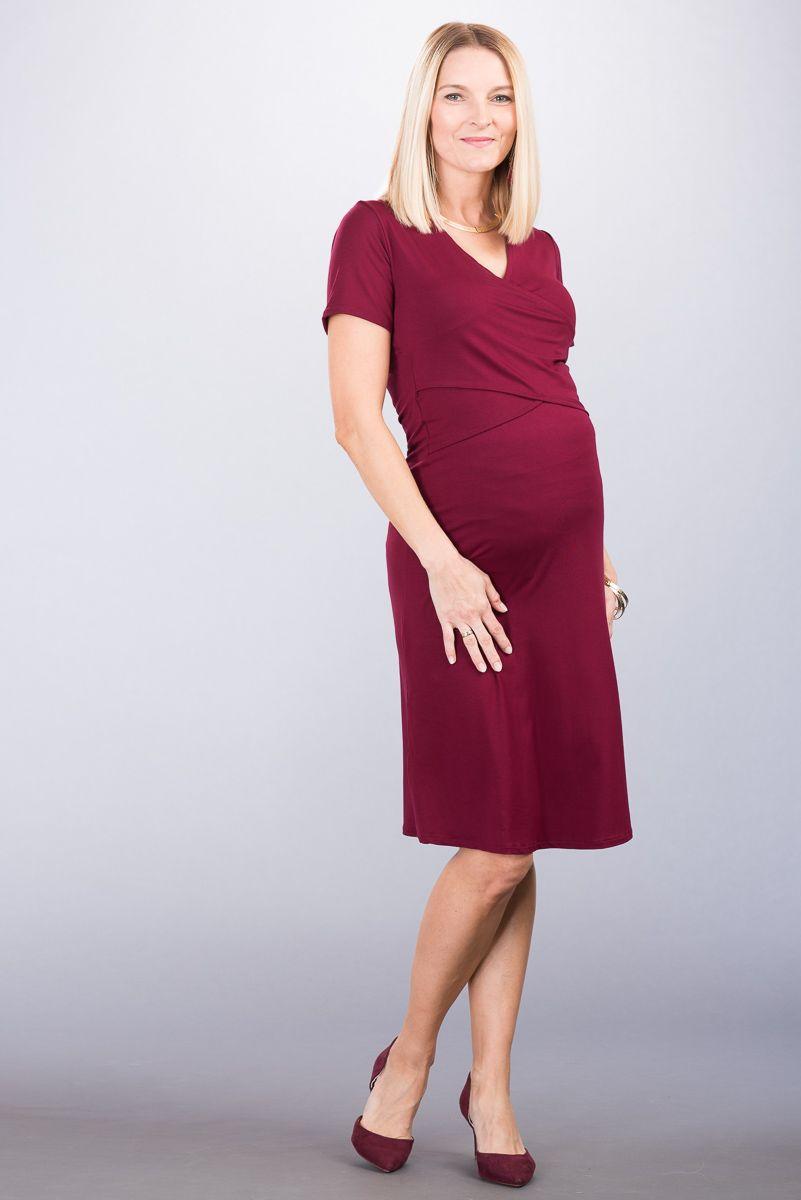 Těhotenské šaty BEBEFIELD - Selena Claret