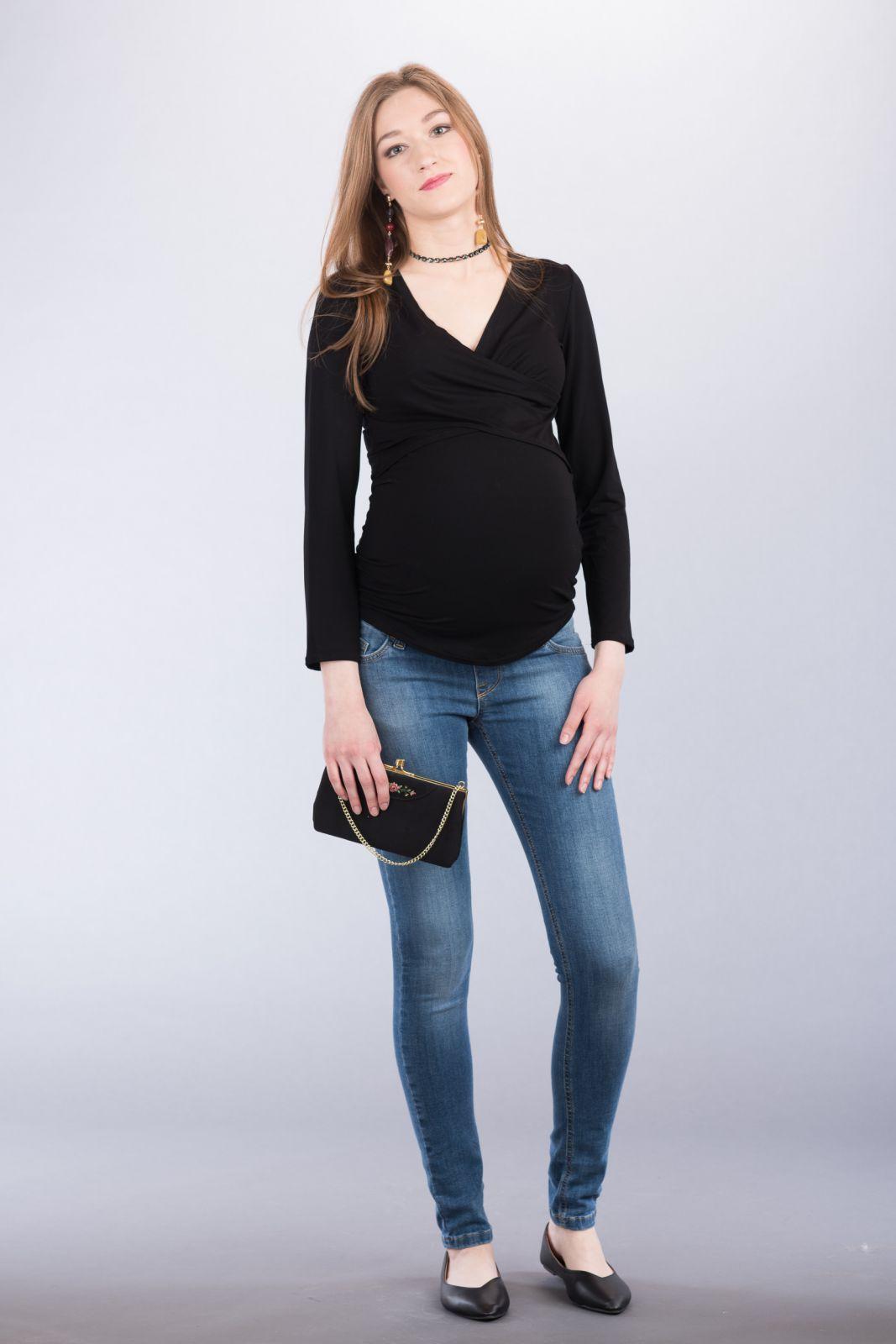 Těhotenská halenka BEBEFIELD - Evelina Black
