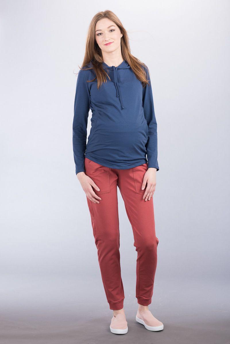 Těhotenská halenka BEBEFIELD - Lila Jeans
