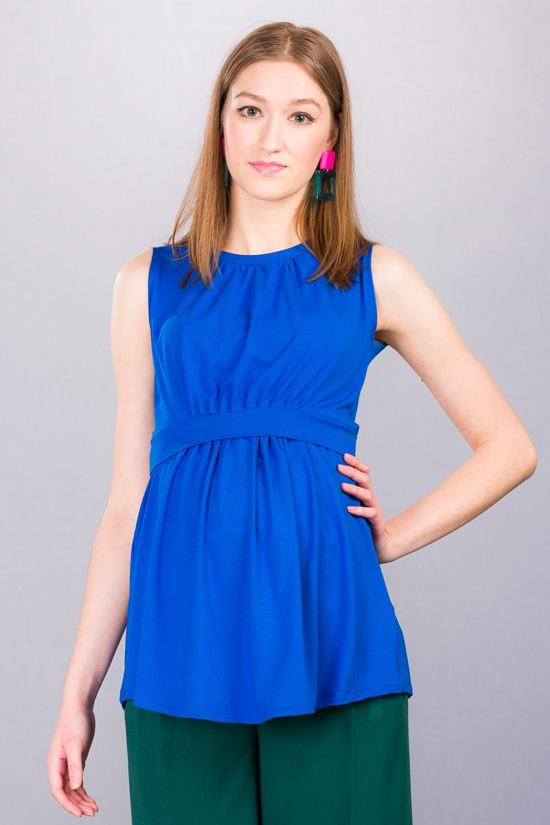 Těhotenská halenka BEBEFIELD - Mina Blue