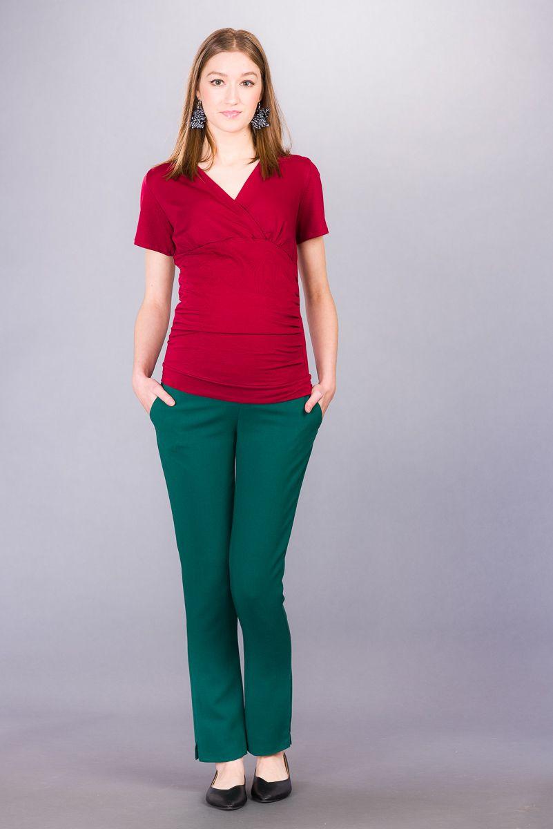 Těhotenské kalhoty BEBEFIELD - Bologna Green