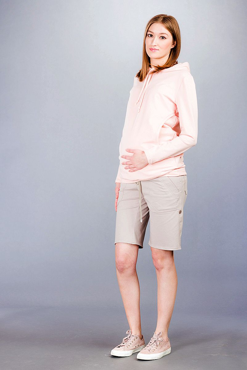 Těhotenské kalhoty BEBEFIELD - Pietro Taupe