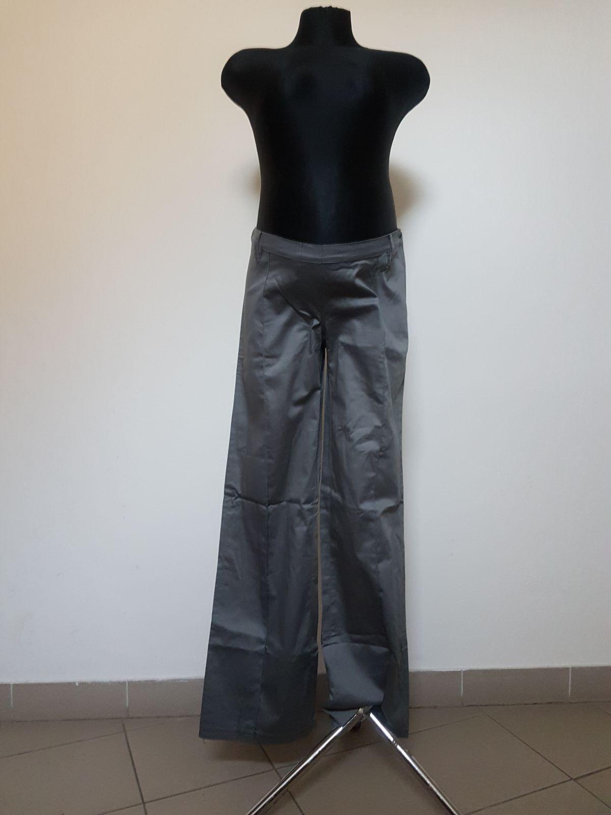 Těhotenské kalhoty BEBEFIELD - Satin Grey