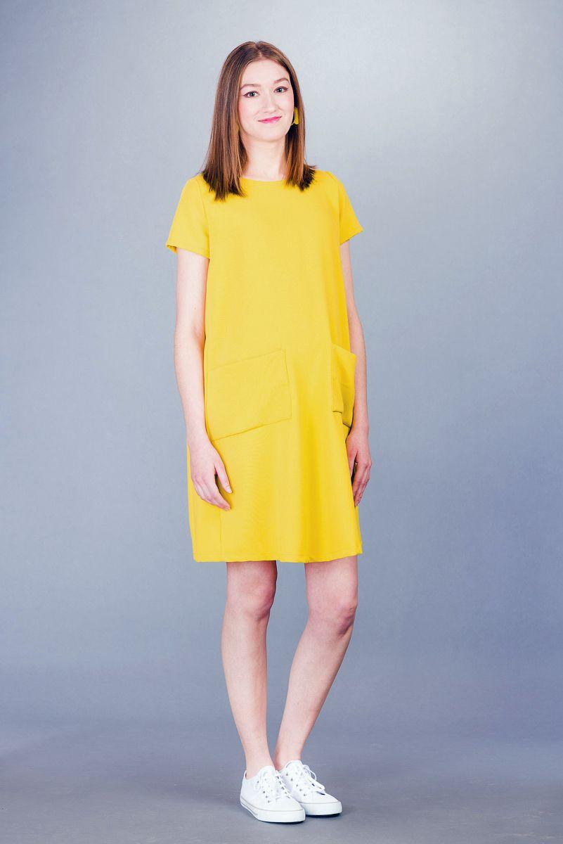 Těhotenské šaty BEBEFIELD - Ella Yellow