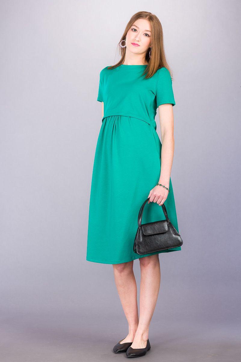 Těhotenské šaty BEBEFIELD - Emma Emerald - Velikost 42